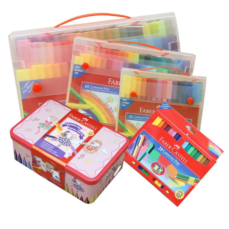 FABER CASTELL Collage 80 Color Children's Watercolor Pens Color Pen Students Painting Pen