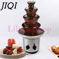 4 Tiers Layers Chocolate Fountains Fondue Wedding Children Birthday Home Christmas Melt Waterfall Machine Party 110V