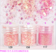 лучшая цена 1 Box Coral red Chunky Glitter Nail Sequins Iridescent Flakes Tips Colorful Mixed Paillette Festival Glitter Cosmetic Face Hair