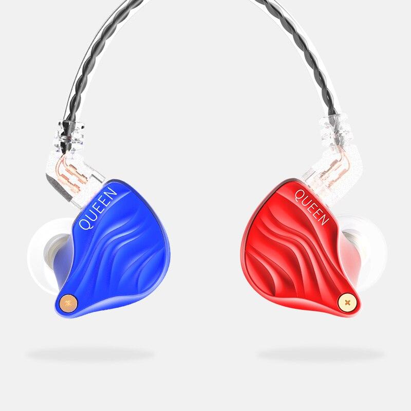 TFZ 2018 Nouvelle REINE Métal HIFI Dynamique Hybride antibruit Réduction 2Pin Interface 3.5mm In-Ear moniteur écouteurs pour le sport