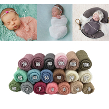 Newborn Baby Photography Wraps Baby Stretch Knit Wrap Swaddle Infant Photo Shoot