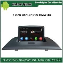 Обновлен оригинальный автомобиль Радио плеер костюм BMW X3 E83 2004-2010 автомобилей Видео плеер встроенный Wi-Fi GPS навигации Bluetooth