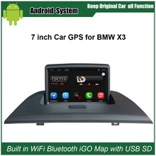 Car audio for Bmw X3 car video for Bmw with 7touch screen,GPS,DVR,BT,USB.PIP.Free 8G USB,8G SD цена