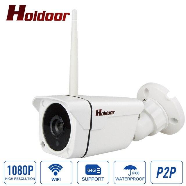 Wifi Kamera 1080 P Kablosuz IP CCTV Açık Güvenlik Onvif P2P ile cctv güvenlik sistemi gözetim mini kablosuz kam SD yuvası