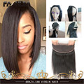 Brazlian Virgin Human Hair 360 Lace Band Frontal Closures Straight Ear To Ear Lace Frontal Closures With Baby Hair Lace Frontal