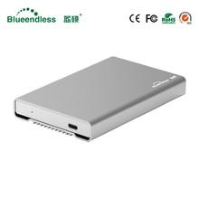 New Aluminum HDD Enclosure 2 5 Mobile Hard Disk Case Type C Sata USB 3 1