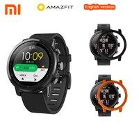 Английские умные часы Xiaomi Huami Amazfit Stratos умные спортивные часы 2 gps PPG 5ATM водостойкие Smartwatch для iOS Android