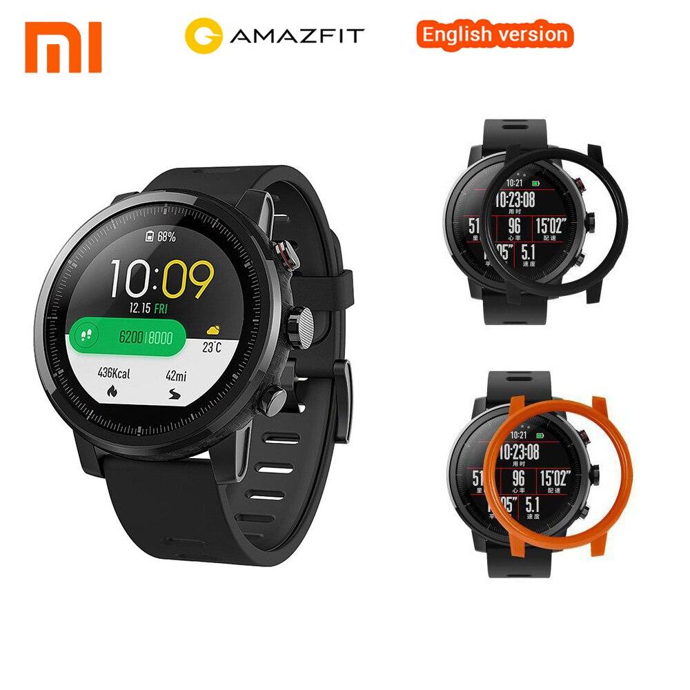 Inglese Xiaomi Astuto Della Vigilanza Xiaomi Huami Amazfit Stratos Intelligente Orologio Sportivo 2 GPS PPG 5ATM Impermeabile Smartwatch Per iOS Android
