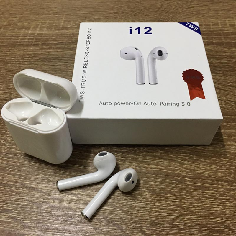 <font><b>i12</b></font> <font><b>TWS</b></font> Bluetooth 5.0 Wireless Earphone Smart Touch Control Wireless Earbuds With Mic For iPhone X 7 8 Samsung S10 Xiaomi Huawei image