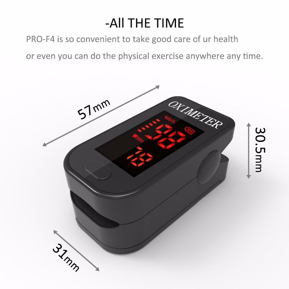 PRO-F4 Finger Pulse Oximeter, Til Medicinsk Og Daglig Sport, Pulse - Sundhedspleje - Foto 5