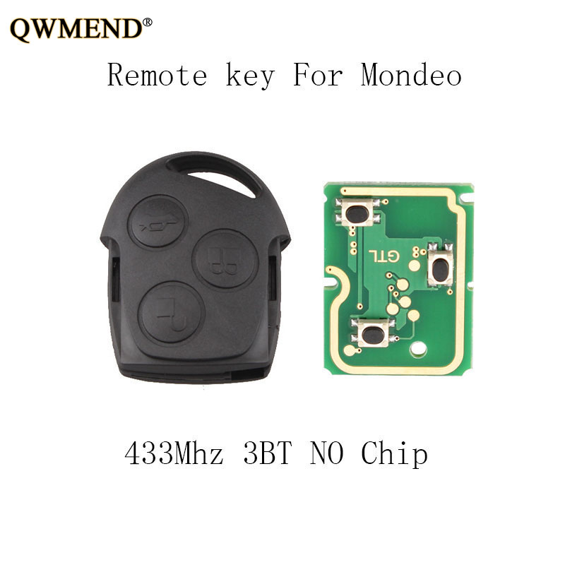 QWMEND 3Buttons 433mhz <font><b>Remote</b></font> <font><b>Key</b></font> <font><b>For</b></font> <font><b>Ford</b></font> Fusion <font><b>Focus</b></font> Mondeo Fiesta Galaxy 1998-2007 <font><b>key</b></font> NO Blade NO chip image
