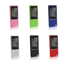 Чехол + Протектор Экрана для Sony Walkman NWZ A15 A17 A25 A27 крышка mp3 Silicoen Делам Резина Гель Кожа Фильм 16 ГБ 64 ГБ игрок Мешок