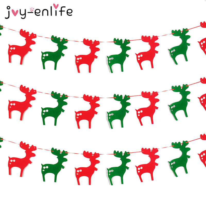 5b19c46f7ca7 JOY-ENLIFE Merry Christmas Banner Reindeer Socks Xmas Tree Flags Happy New  Year 2018 Christmas Decorations Photo Booth Props | Hyperor