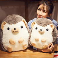 Bainily 35cm New Round Robin Simulation Hedgehog Doll Cute Dog Plush Toy Holiday Gifts Plush