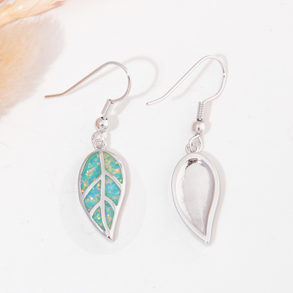 CiNily Ελιά Πράσινη Φωτιά Opal Long - Κοσμήματα μόδας - Φωτογραφία 4