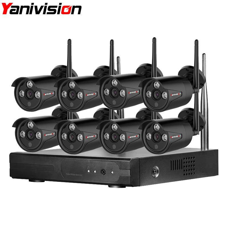 Wifi NVR Surveillance Kit Plug Play P2P 8CH 1.3MP HD 960 p 20 m Vision Nocturne Imperméable À L'eau En Plein Air Sans Fil DVR caméra CCTV Ensemble