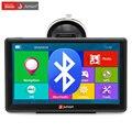 (España Almacén) Junsun 7 pulgadas de Coches de Navegación GPS Bluetooth FM AVIN 8 GB/256 MB Pantalla Capacitiva Sat Nav Libera El Mapa actualización