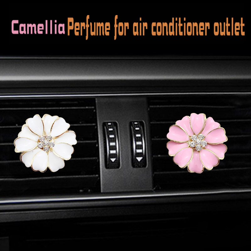 Water drill Camellia car Air conditioning outlet perfume interior accessories fragrance