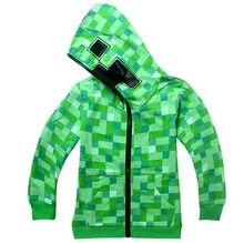 2018 Minecraft caricatura primavera e no outono roupas casaco fashion  camisola das crianças do bebê da menina do menino curto-de. e34421d233fca