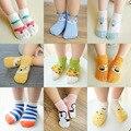 Spring summer meias bebê macio do algodão bebê recém-nascido menino unisex Meia menina Bonito Dos Desenhos Animados 6 pcs Piso Socks Presente Para crianças