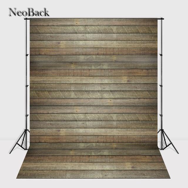 Neoback 90x150cm Vinyl Cloth Brown Tone Rustic Wood Floor