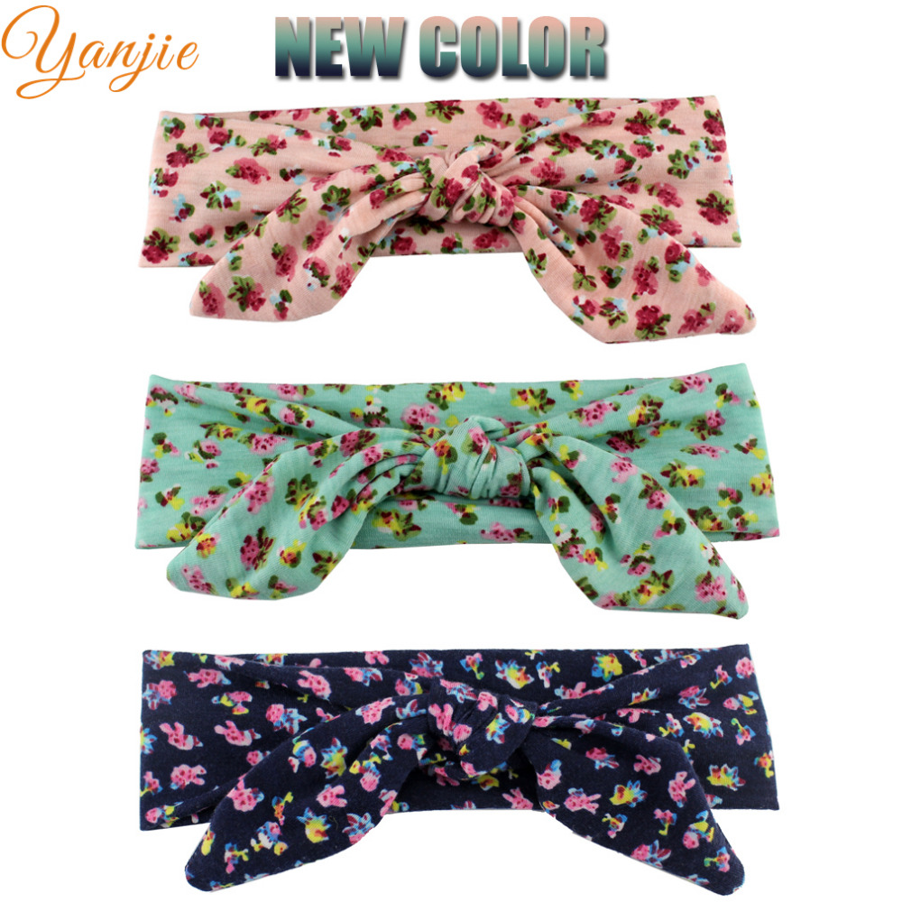 1PC Kid Little Girl Cotton Elastic Hairband Children Stretch Turban Knot Rabbit Headband Headwear Girls Hair Band Accessories