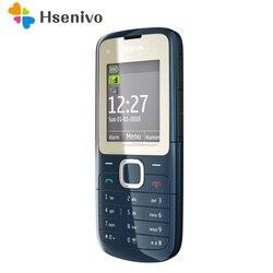 Оригинальный разблокированный Nokia C2-00, мобильный телефон черного и красного цвета, Восстановленный, в стиле «локатор»