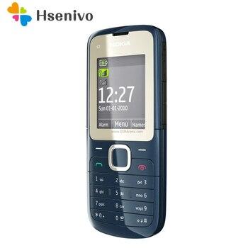 Перейти на Алиэкспресс и купить Оригинальный разблокированный Nokia C2-00, мобильный телефон черного и красного цвета, Восстановленный, в стиле «локатор»