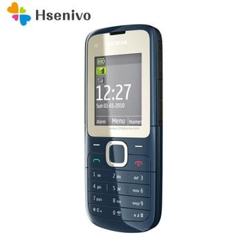 Перейти на Алиэкспресс и купить Оригинальный C2-00 разблокирован Nokia C2-00 мобильный телефон черный и красный цвет Восстановленный