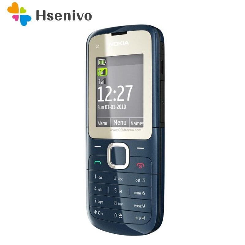 Original C2-00 Unlocked Nokia C2-00 Mobile Phone Black And Red Color Refurbished