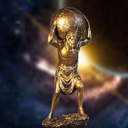 Retro Harz Griechischen Titan Atlas Durchführung die Welt Statue (Bronze)