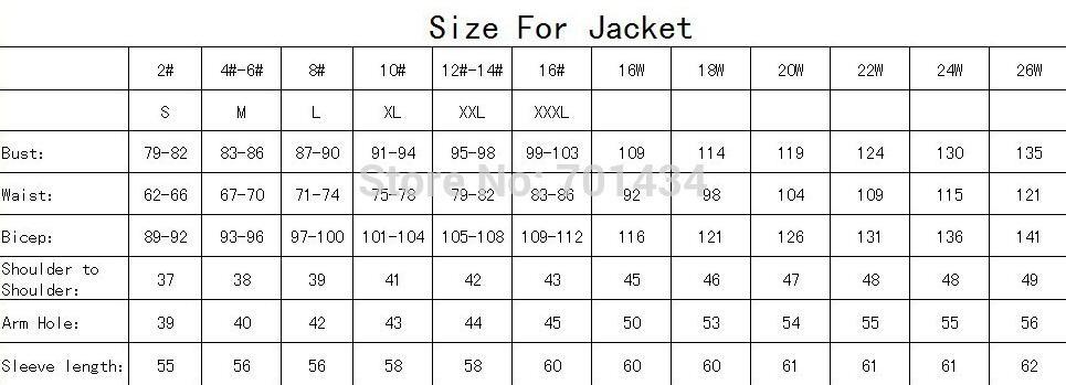 size forjacket
