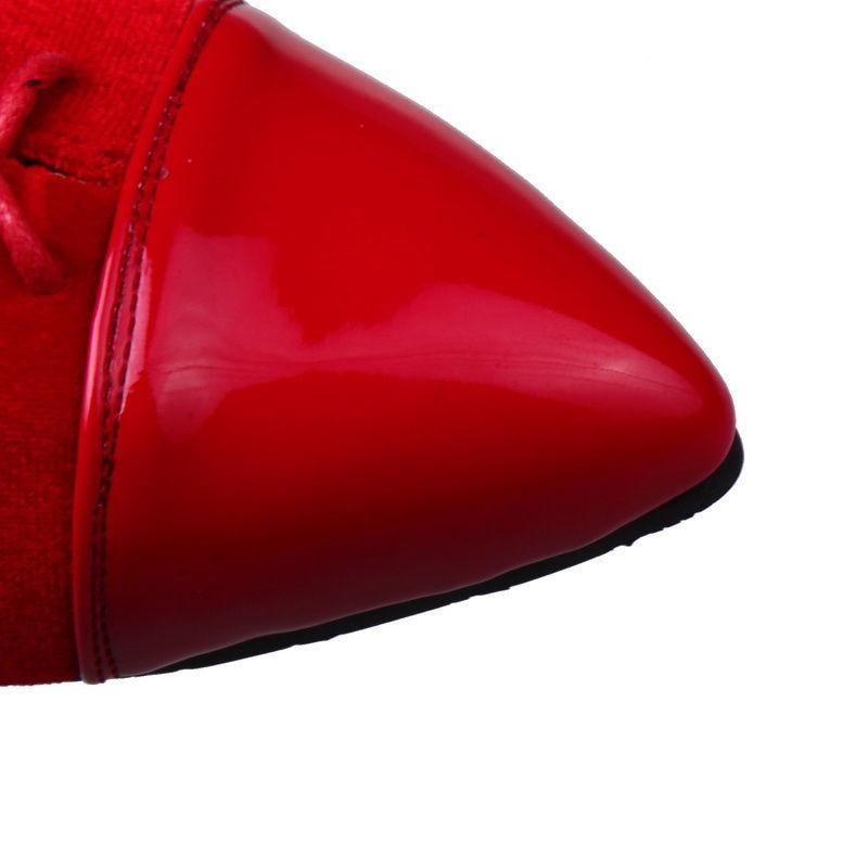 bleu À Printemps Plates Spéciale Décontractées Noir army Peu Ribetrini Green Profonds Taille Femme 2019 Patchwork Femmes Lacets Chaussures rouge Offre 34 43 Automne Appartements Grande 1zn5Oqw5