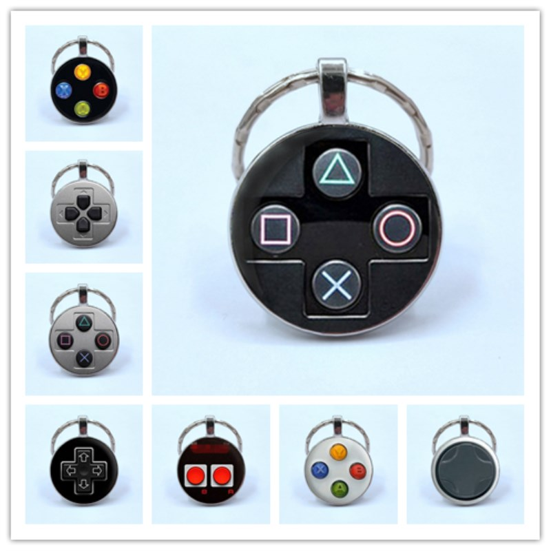 HOT/ Brand Game Controller Key Chain Geeky Boyfriend Perfect Gift Idea Jewelry Video Game Controller Pattern Keychain