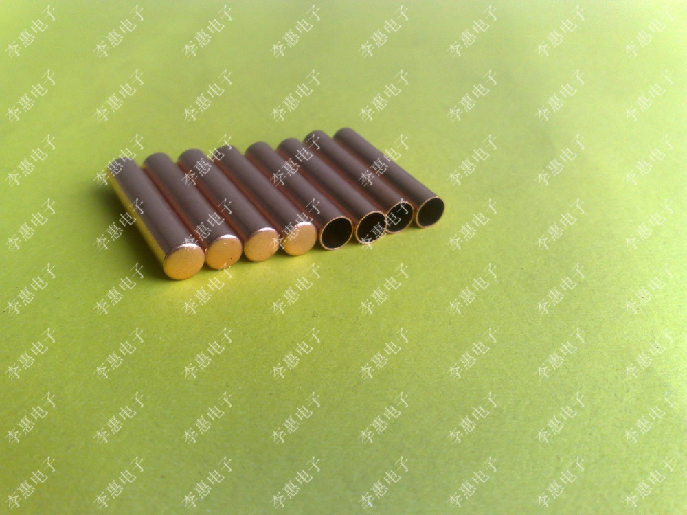 Free Shipping 1000PCS/Lot  6*30MM Copper Shell Probe For Temperature Sensor Sleeve Copper Pipe For Sensor Sleeve