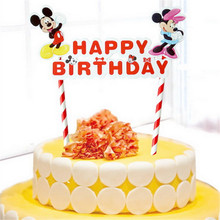 cake topper happy birthday decoration children party supplies personalized minnie mickey cake topper flag cupcake toppers golden pink flash cake topper party supplies acrylic happy birthday cake topper for cupcake birthday party decoration