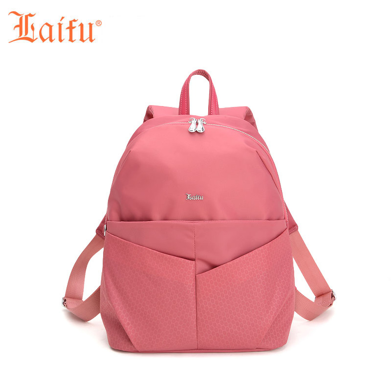 Laifu Famous Brand Designer Backpacks Teenage Girls Orthopedic School Nylon Bag Travel Bags European and American Style