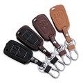 New Design Genuine Leather car key chain key case key cover For Opel ASTRA J Astra Corsa Antara Meriva Zafira Insignia MOKKA