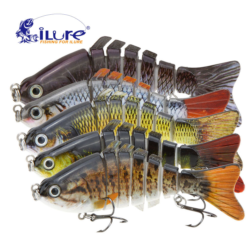 iLure Fishing Lure 10cm 15.5g Bionic Articulated Hard Lure Lifelike Hard Bait Hook Bass Walleye Pike Muskie Roach Trout Swimbait wldslure 1pc 54g minnow sea fishing crankbait bass hard bait tuna lures wobbler trolling lure treble hook