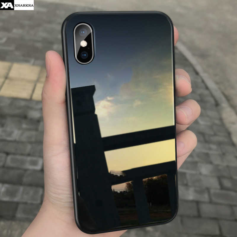 Luxury Tempered Glass Phone Cases For iPhone 7 8 6 6s Plus Glass Back Silicone Shockproof Cover For iPhone 11 Pro X XR XS MAX