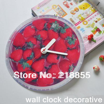 Strawettery Design  New Home Decorate Art Design Modern Novelty Style Wall Clock Gift Clock Creativity DIY Decorative Homedesign