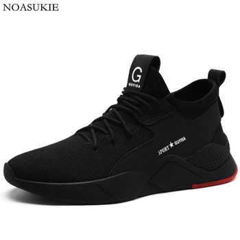 Hipsters Men Breathable Mesh Safety Shoes Tennis Sneakers Casual Work Shoes Anti-Smashing Puncture Steel Toe Shoes Work Boots