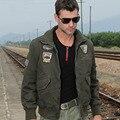 Unique Design Men's Top Military Jacket 101 Pilot Casual Jacket Male Fashion Water Washed Badge Jacket Plus Size