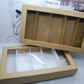 Environmental protection kraft paper PVC 5 pairs of glasses Storage box high-grade kraft paper grid glasses display boxes