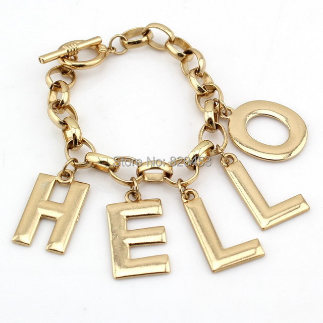 Pokloni osobi iznad 2014-Fashion-New-Hot-Fashion-Women-font-b-Stuff-b-font-Gold-Tone-HELLO-Letter-Bracelet