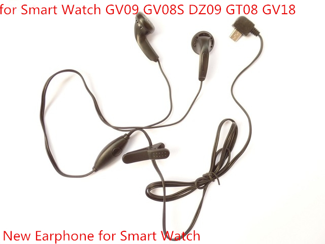 Free Shipping Wholesale Earphone for font b Smart b font Watch DZ09 GV18 Earphone with Micro