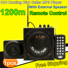 Free Shipping Q10 Portable Amplifier Outdoor Loudspeaker Hunting Bird Caller MP3 Player Decoy Speaker With External Mini Speaker