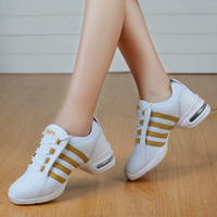 New Sports Feature Soft Outsole Breath Dance Shoes Sneakers For Woman Practice Shoes Modern Dance Jazz