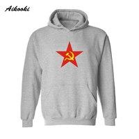 Aikooki Classique CCCP À Capuche Hoodies Hommes Hip Hop Streetwear Long en Union Soviétique Mens Hoodies et Pulls Molletonnés Pour Les Couples Vêtements