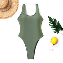SAKKUS 2019 Sexy One Piece Swimsuit Push Up Swimwear Women Bathing Suit Vintage Monokini Bodysuit Beach Wear High Cut Swim Suit(China)